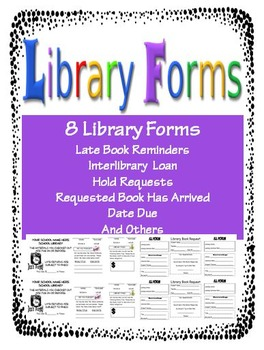 Library Forms  Latest Books Elementary School Library And