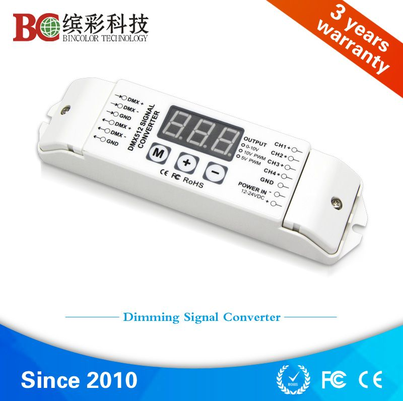 Bc 834 Dmx To 010v Converter 4 Channels Dc12v 24v Dmx512 To 0 10v Led Signal Decoder Led Dimmer Led