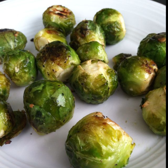 My New Favorite Brussels Sprouts With Evoo Kosher Salt