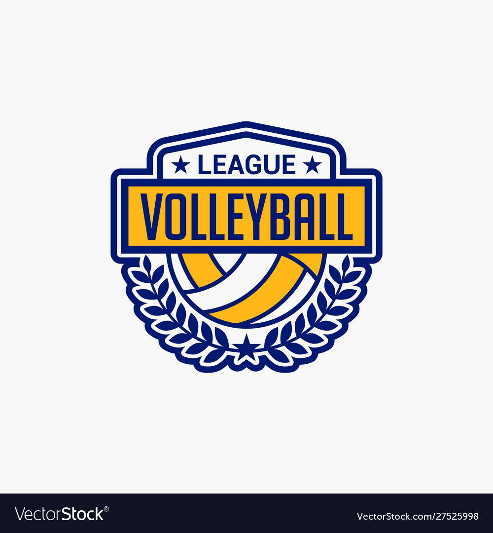Volleyball Club Badge Logo 9 Royalty Free Vector Image Sponsored Badge Logo Volleyball Club Ad Sports Logo Design Volleyball Book Silhouette