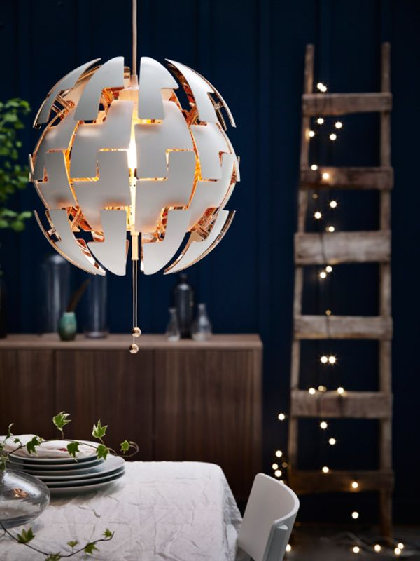 Ikea Lampe Gold Ikea - Ps 2014 Pendant Lamp White, Copper Color | Ikea ...