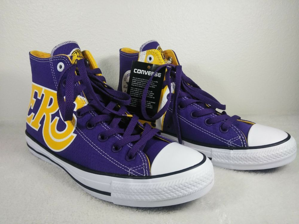 94a1cef324c9dc Men s Size 8 Converse NBA Los Angeles Lakers Chuck Taylor All Stars Jersey  Shoe  fashion  clothing  shoes  accessories  mensshoes  athleticshoes (ebay  link)
