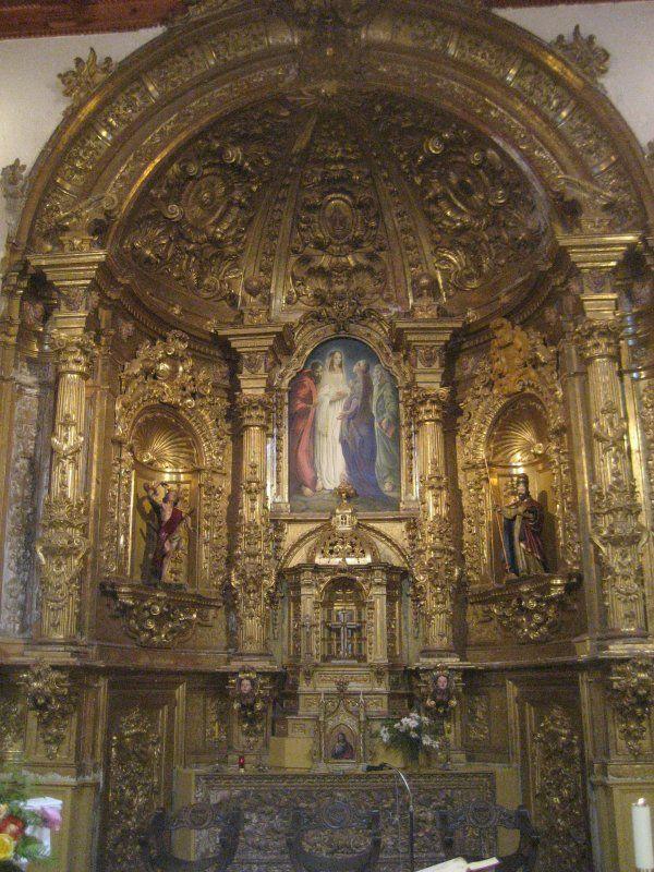 Retablo entre pan de oro por Jerónimo Prieto. http://www.pintorjeronimoprieto.com/obra/nggallery/obras/murales#