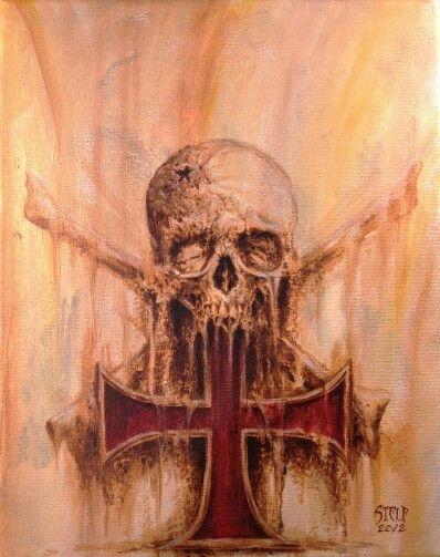 Iron cross skull   tattoo   Pinterest   Dark art and ...