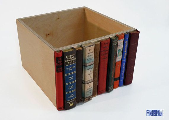 Book spine box--this would be a GREAT use for those books that get donated to the library the NO ONE wants! @Alex McCoy