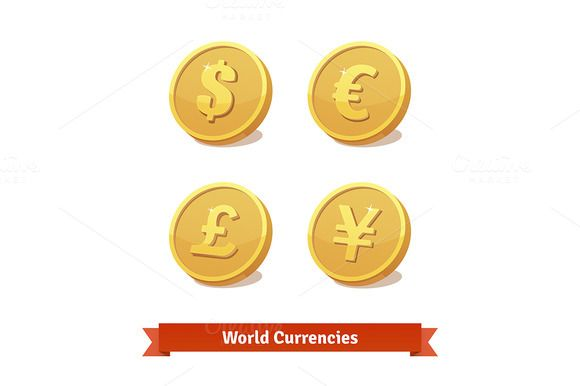 Main currencies symbols @creativework247