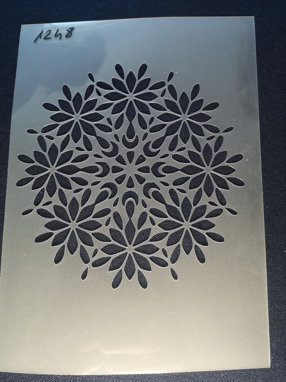Mandala Stencilflexiblereusable125micronwall Decor Home Etsy Card Making Stencils Stencil Crafts Card Making Crafts