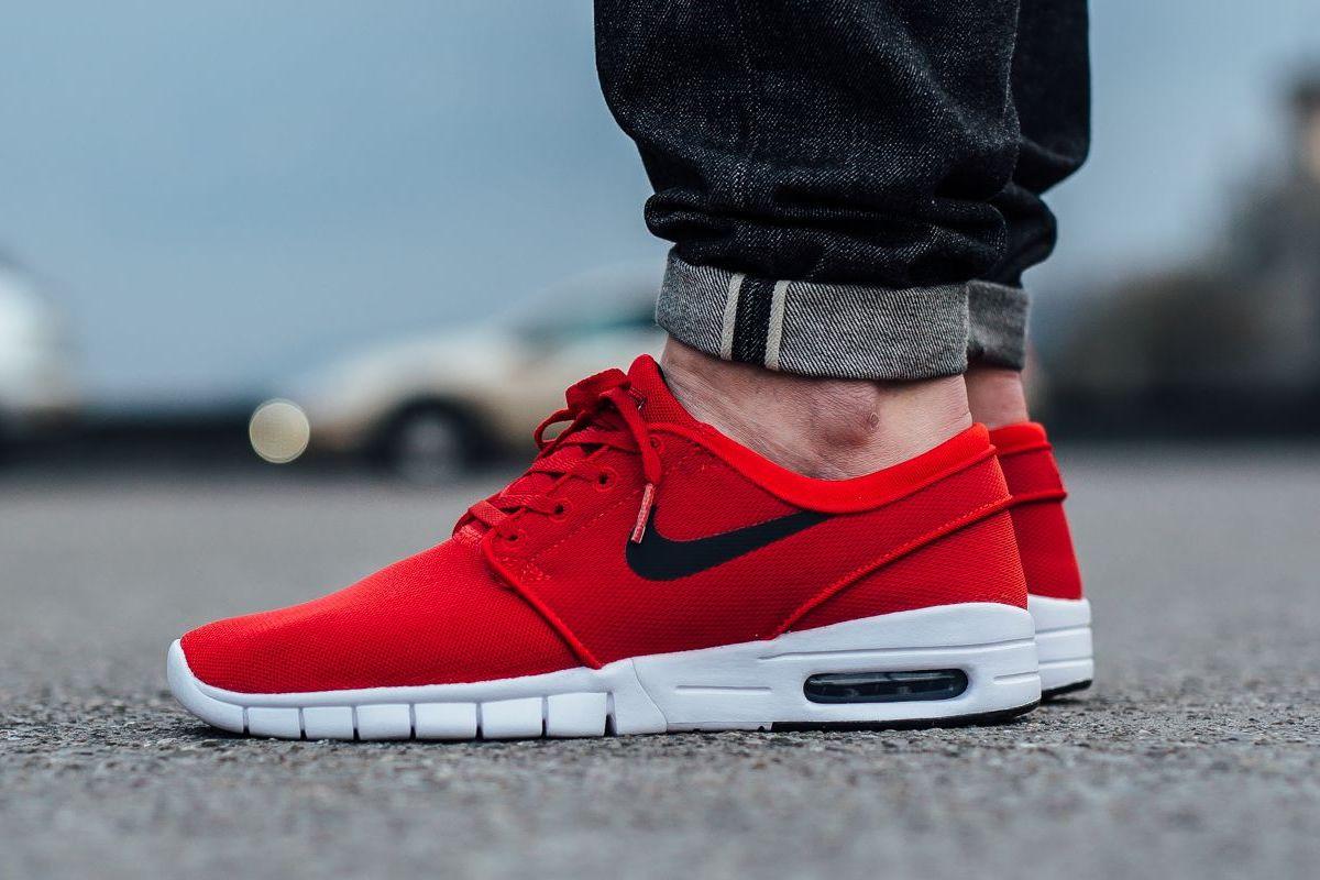 663d3e8ef9 SPORTSWEAR ™®: Footwear: Nike SB Stefan Janoski Max 'University Red'.