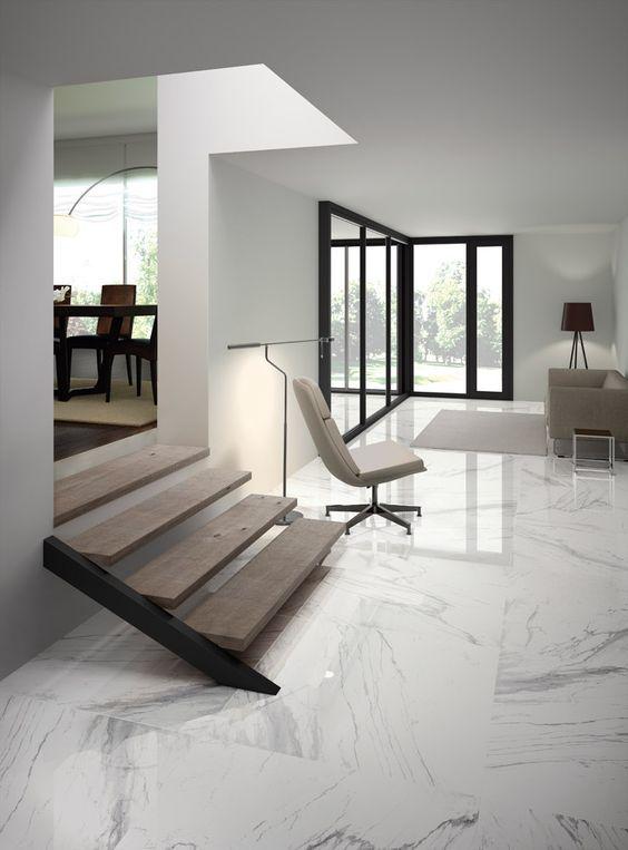 Marmo e legno nel 2019 pavimentare a piastrelle for Pavimenti per cucina e soggiorno