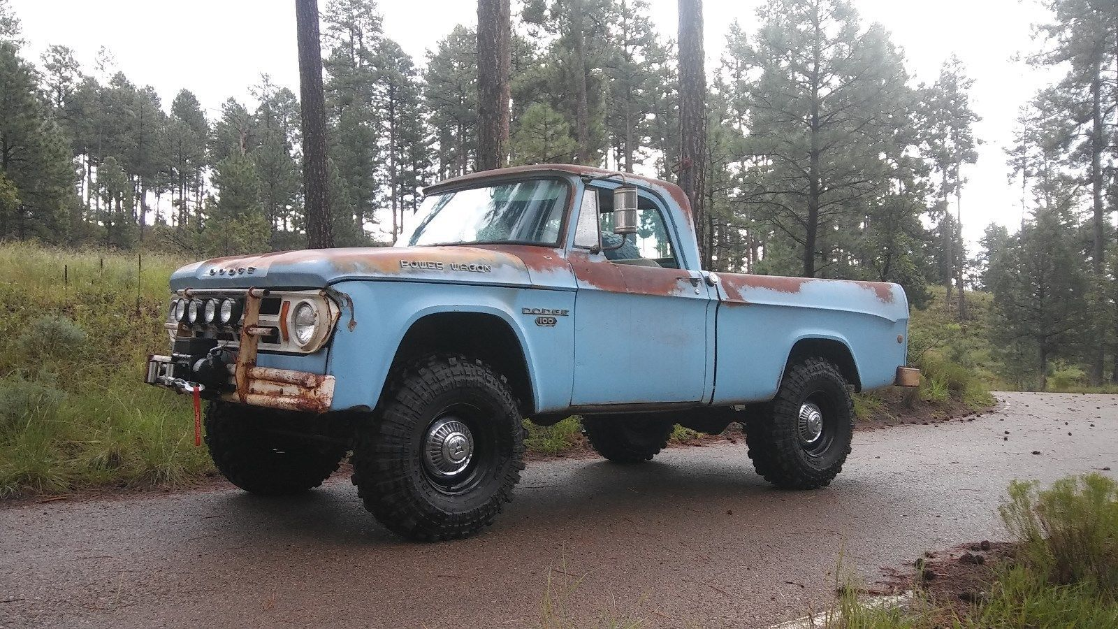1968 Dodge Power Wagon W100 Short Bed Pick Up 4x4 With 56913 Crew Cab For Sale Original Miles Paint Great Patina It Has The 318 V8 Engine A 4