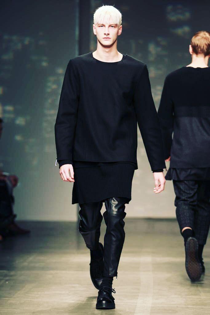 strangeforeignbeauty:  Benjamin Jarvis| General Idea Fall/Winter 2014 New York Fashion Week