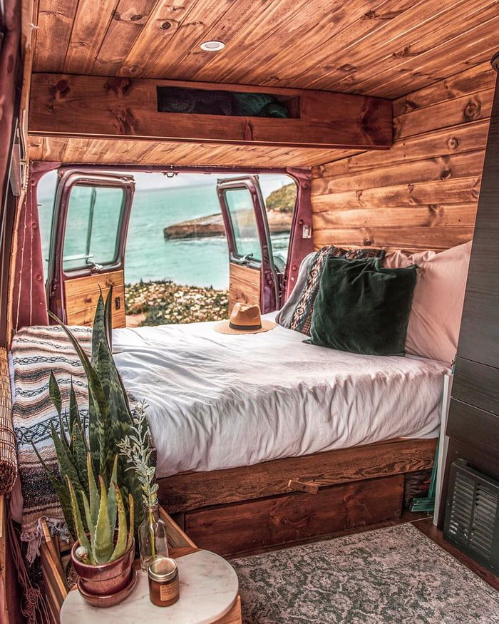Photo of Home in a van by the sea