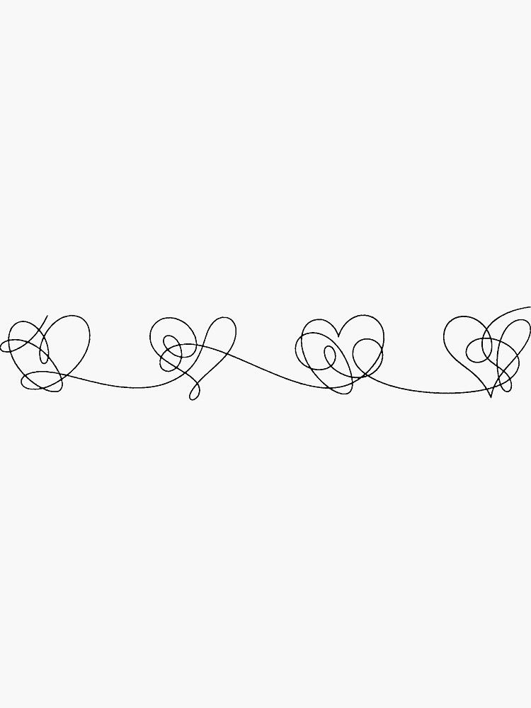 Download 'BTS Love yourself answer hearts (black)' Sticker by ...