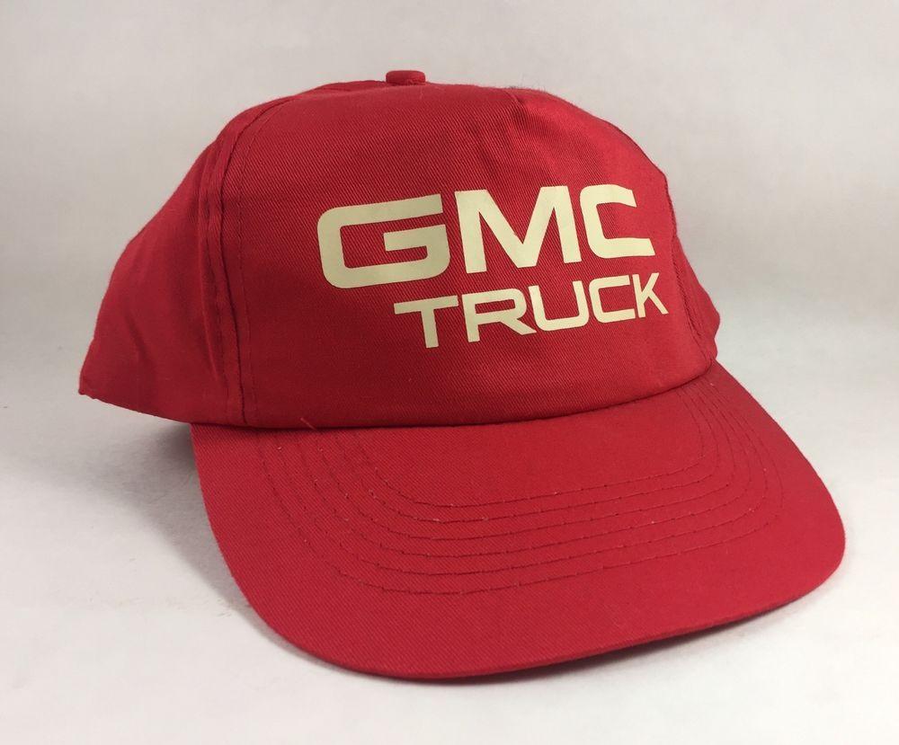 Vintage GMC Truck Red Snapback Cap Hat 100% Cotton  310fd1856435