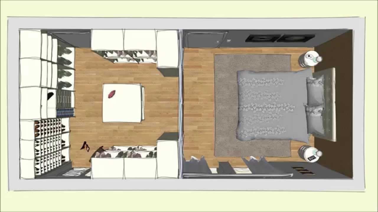 Kleines Schlafzimmer Begehbarer Kleiderschrank Begehbarer