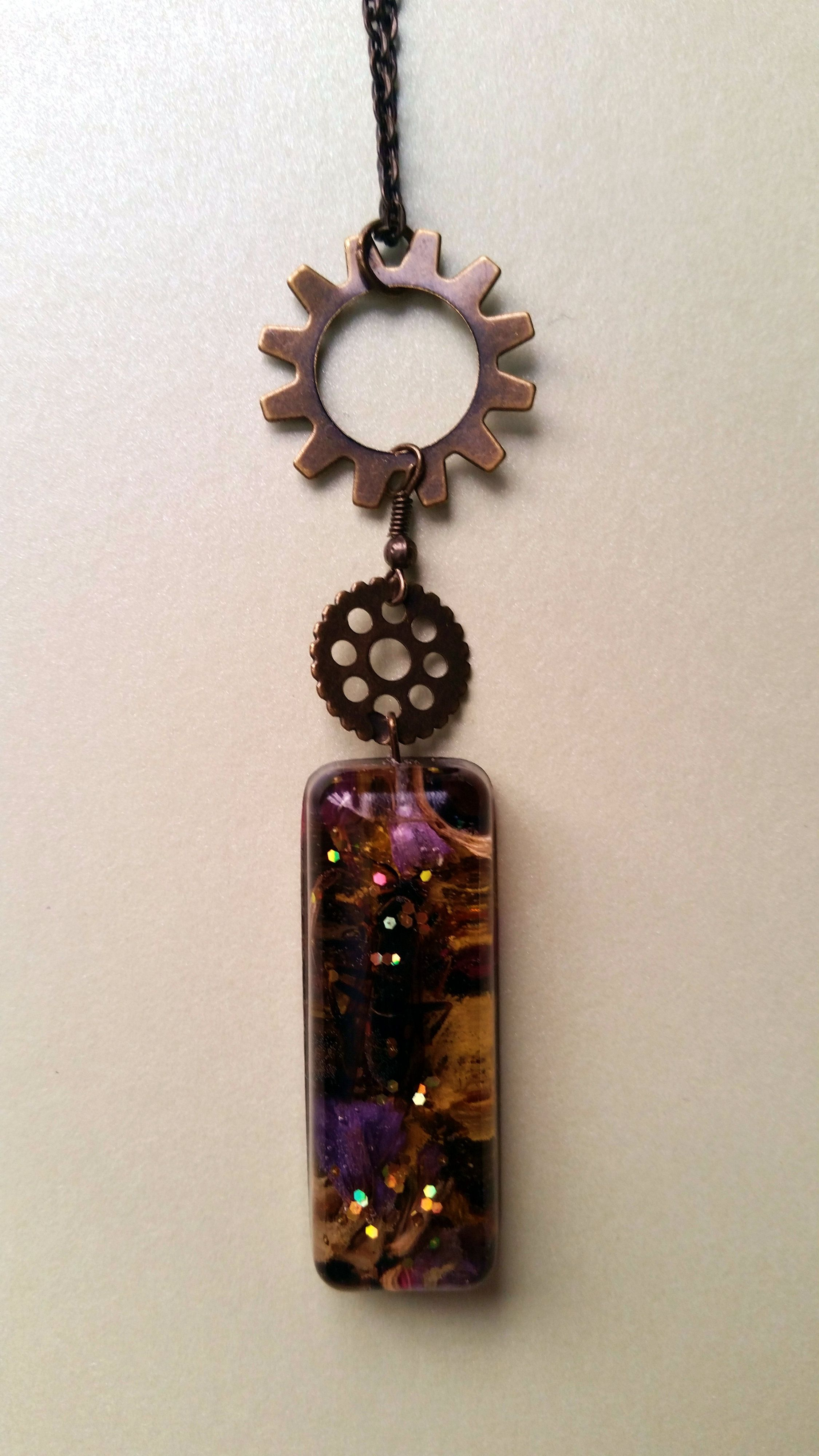 Buzzkill preserved bee and gears glitter necklace pinterest rose