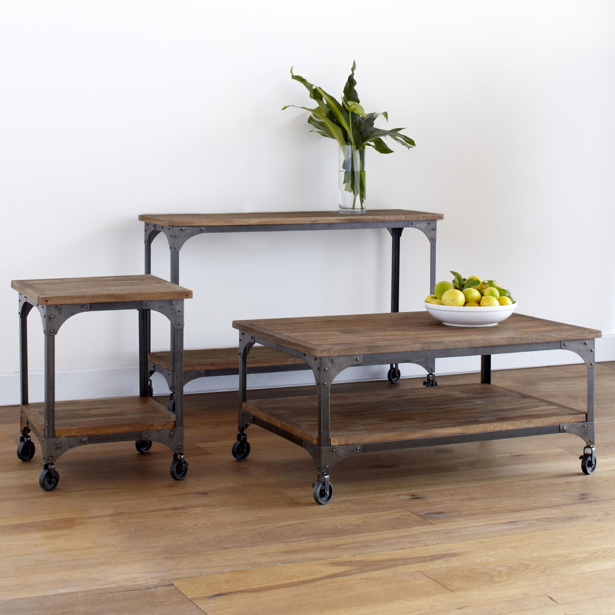 Wood And Metal Aiden Coffee Table Coffee Table Furniture