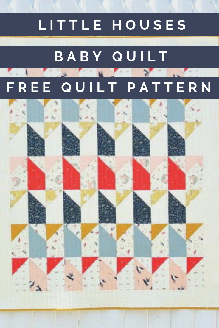 Little Houses Baby Quilt Pattern Quilt Patterns Baby Quilts Baby Quilt Pattern