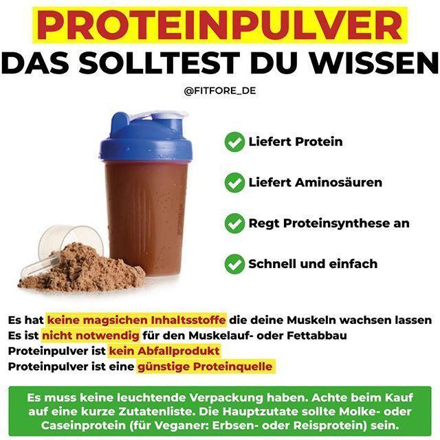 """FITNESS • ERNÄHRUNG • SLIM auf Instagram: """" -  PROTEINSCHÜTTELN & PROTEINPULVER SIND NICHT VERFÜGBAR..."""