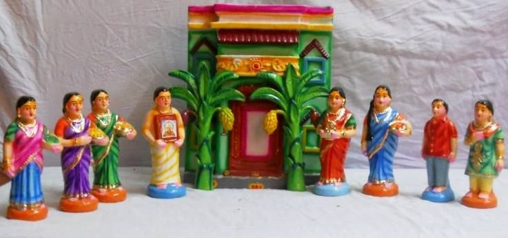 Gruhapravesam golu dolls mud doll sets pinterest - Gifts for gruhapravesam ...