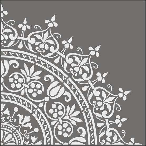 Tutti gli stencil per le pareti consigliati da design mag per ogni ambiente della casa stencil - Stampi per decorare pareti ...
