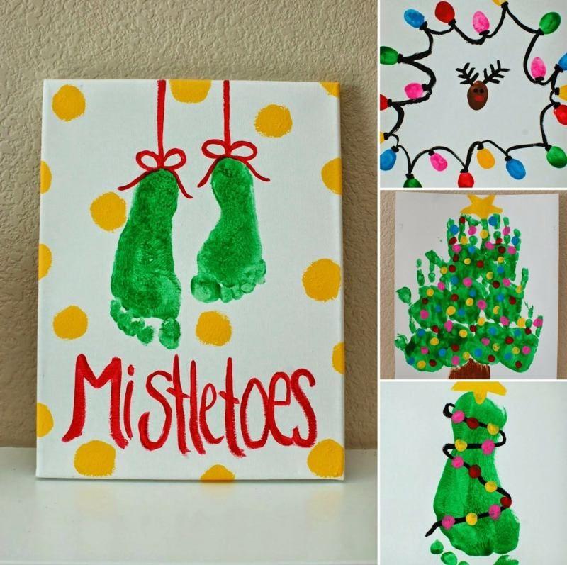 Weihnachtskarten Baby Basteln.Weihnachten Basteln Tolle Bilder Mit Fuß Hand Und