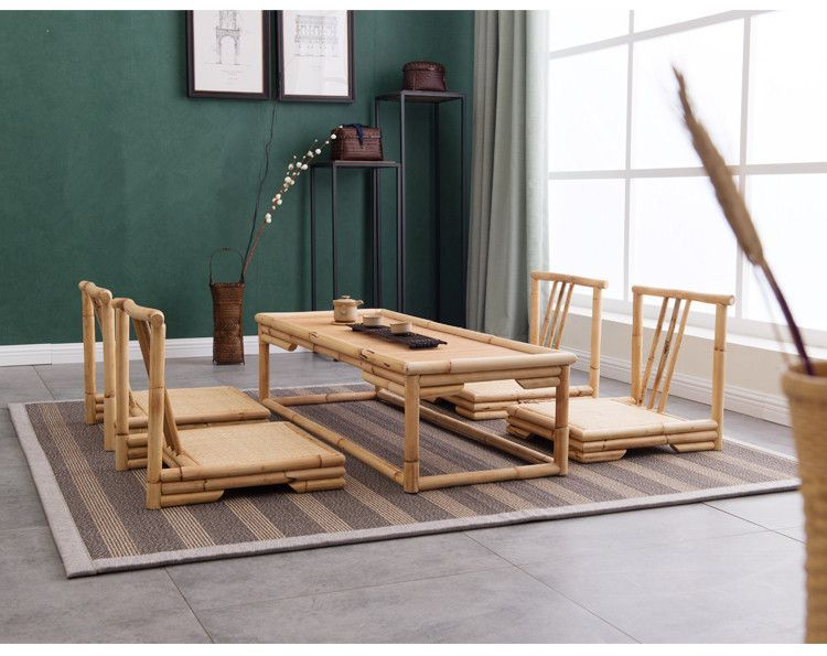 Moderner Kaffeetisch Im Japanischen Stil | Modern Japanese Style Rattan Bamboo Furniture Floor Table Chinese