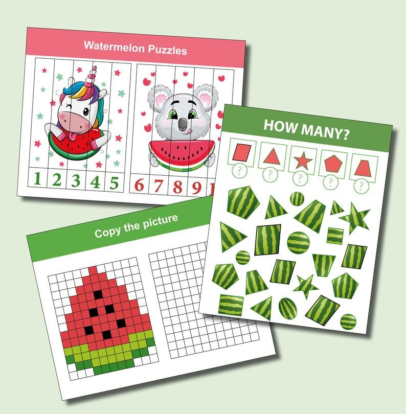 Watermelon Preschool Printable Busy Book Toddler Learning