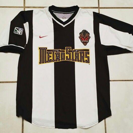 official photos 96d2e 35b5e Vintage NIKE New York Metrostars MLS Soccer Jersey #jerseys ...