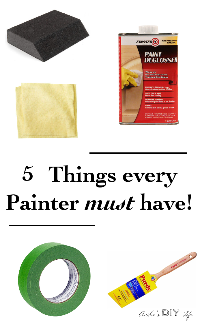 5 Must Have DIY Painting Tools - Anika's DIY Life