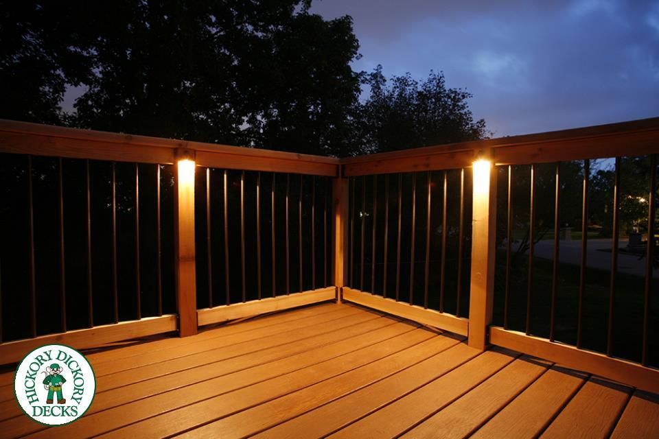 This custom low maintenance deck was constructed with nylo decking lights aloadofball Image collections