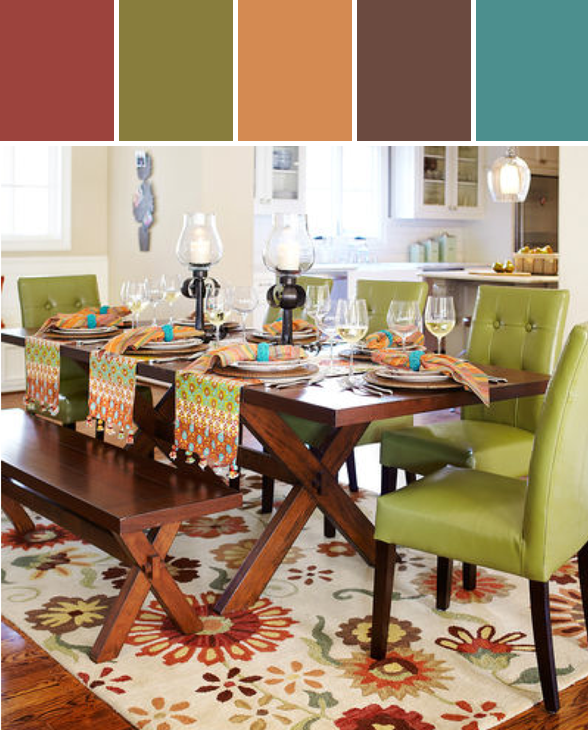 Nolan Extending Trestle Table   Tuscan Brown Designed By Pier 1 Imports Via  Stylyze . Add A Couple Of Cloth Chairs To Dining Room Table