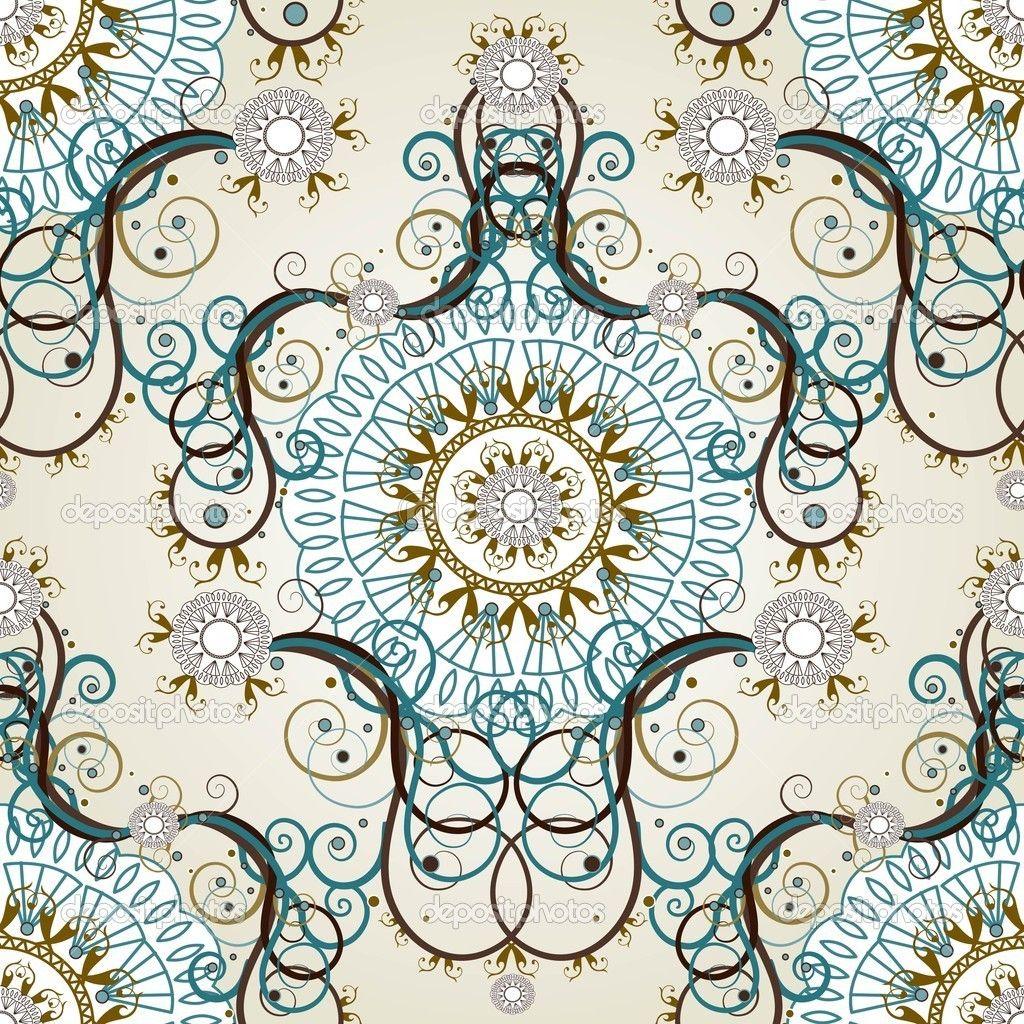 papel tapiz vintage flora papeles tapiz pinterest. Black Bedroom Furniture Sets. Home Design Ideas