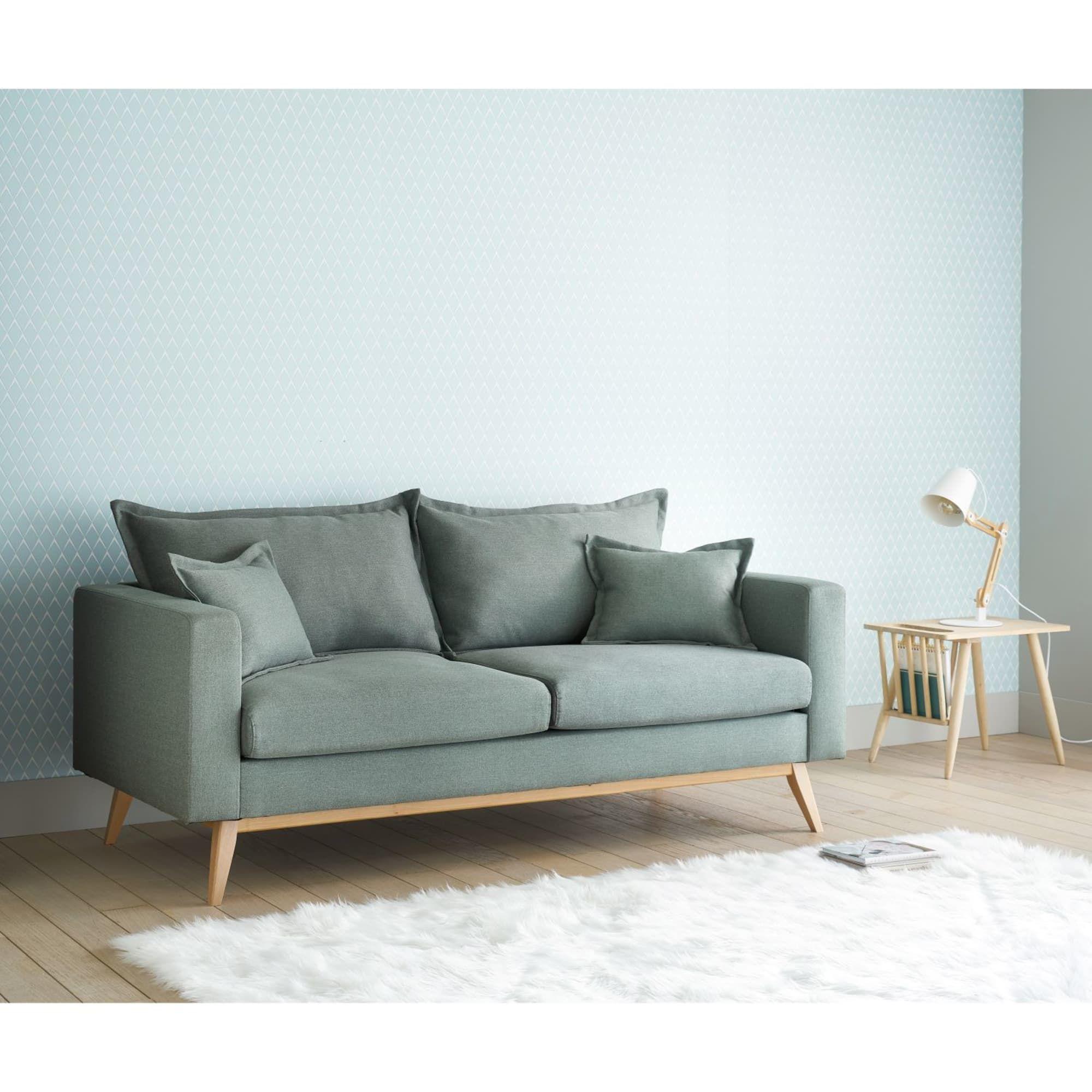 Ausziehbares 3 Sitzer Sofa Aus Stoff Hellgrau In 2020 Vintage Sofa Sofa Bed Sofa