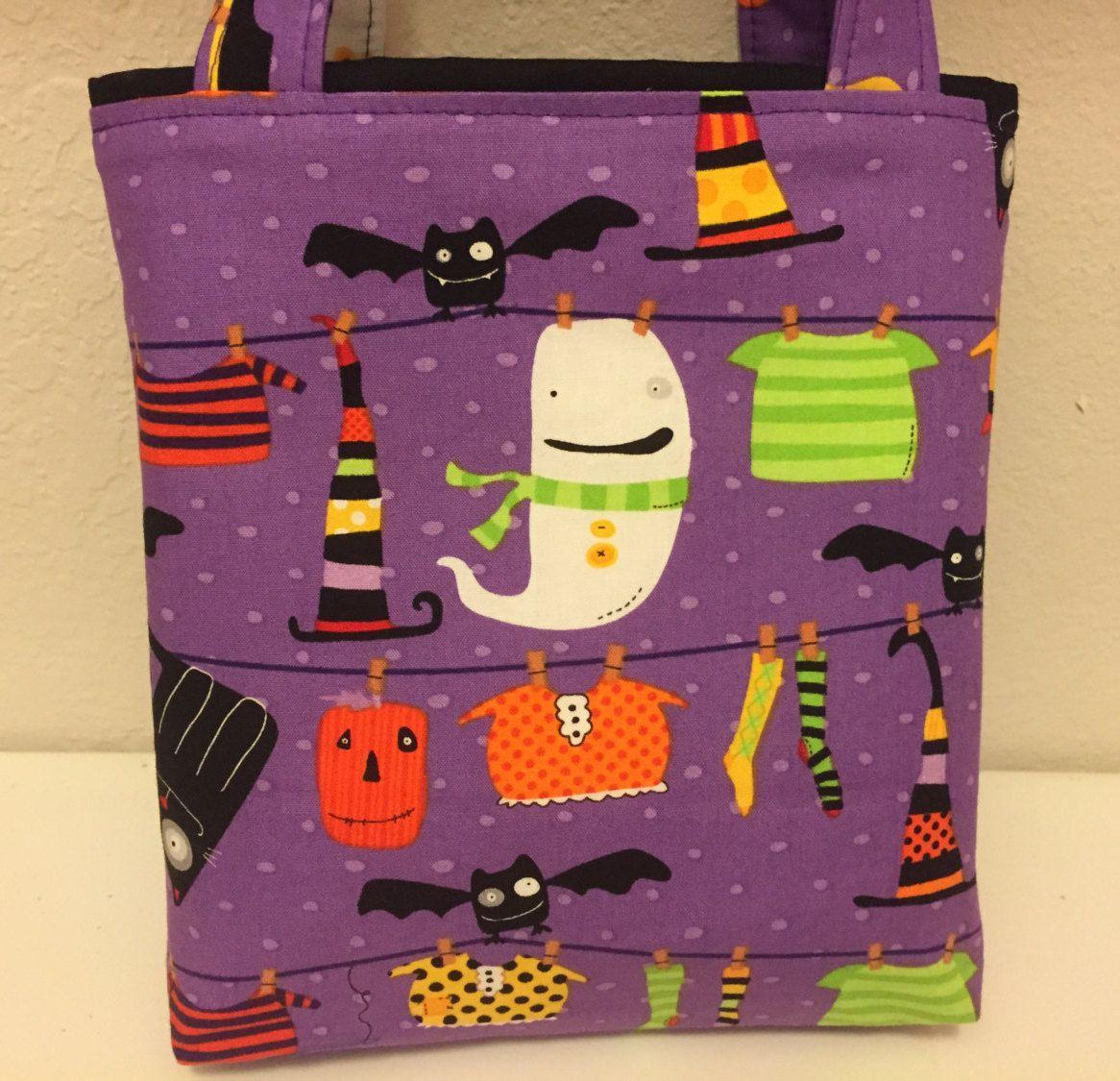 Halloween clothesline gift tote bag gift wrap halloween