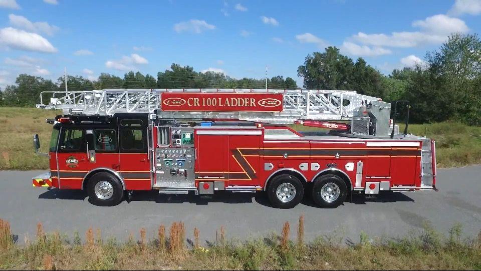 EOne CR 100 Aerial Ladder Fire trucks, Emergency