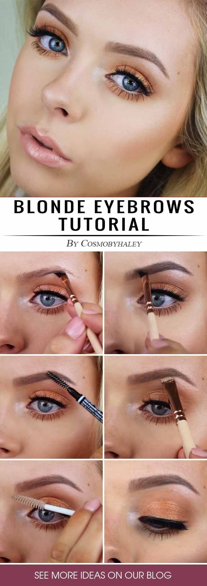 Blonde Eyebrows Tutorial How To Get Fuller Natural Looking Eyebrows Blonde Eyebrows Eyebrow Tutorial How To Do Eyebrows