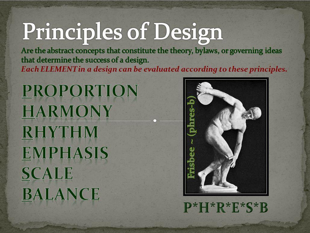 Principles Of Design Measure The Elements Of Design