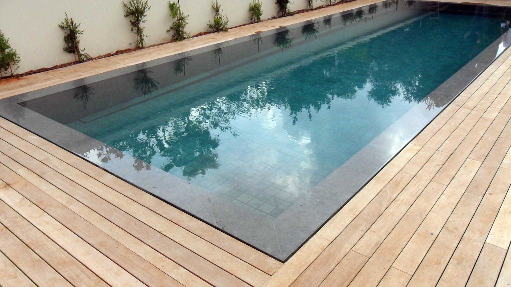 15 Stunning Above Pool Wooden Deck Design Ideas Wood Pool Deck Pool Decks Pool Landscaping