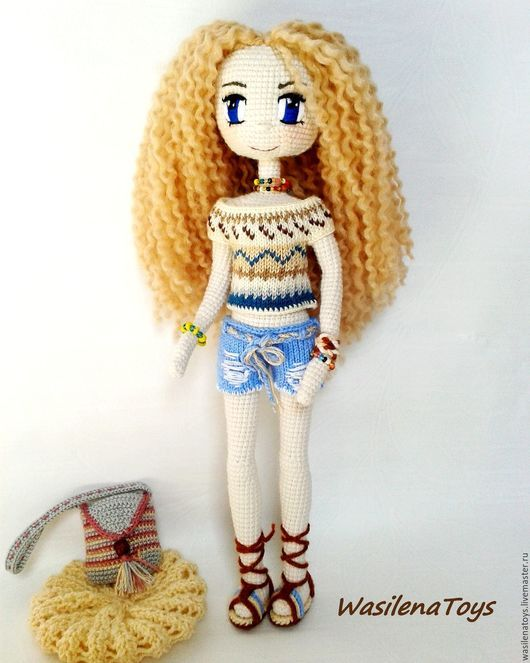 Pin de Галина en Куклы | Pinterest | Muñecas, Muñecas de crochet y ...