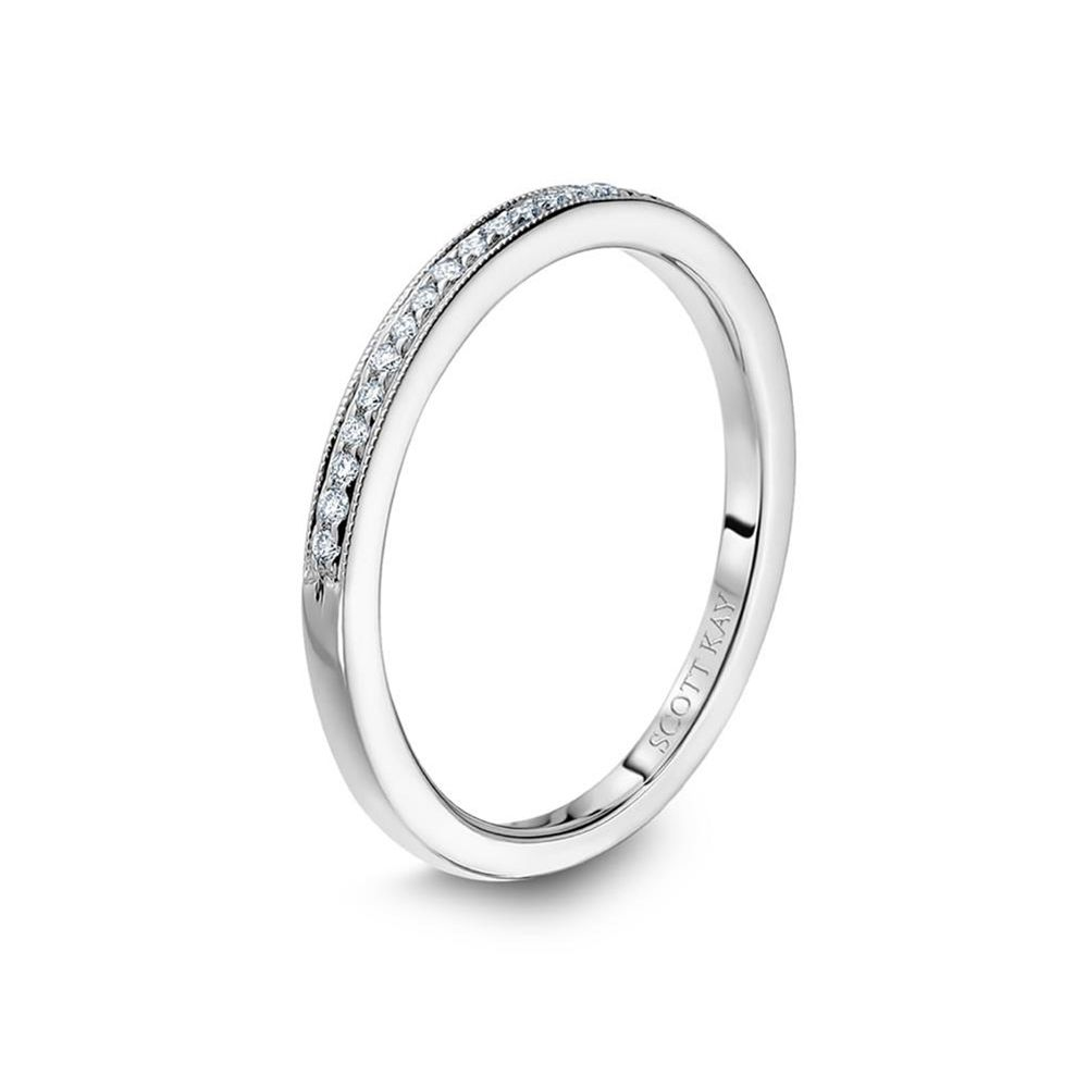 14kt white gold h si thin wedding band