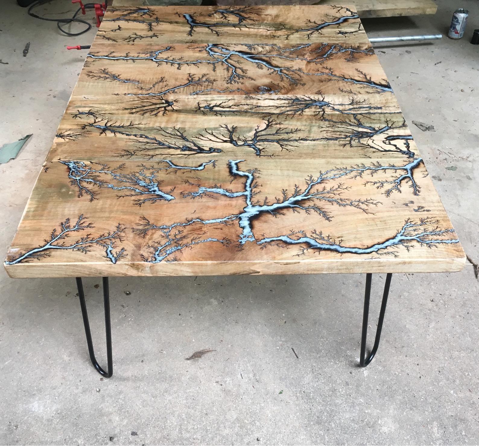 Reclaimed Lichtenberg Coffee Table Etsy Coffee Table Wood Coffee Table Lichtenberg [ 1481 x 1588 Pixel ]