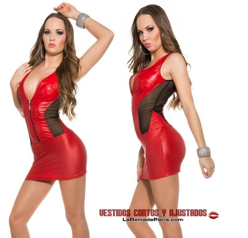 Mini vestido ajustado rojo