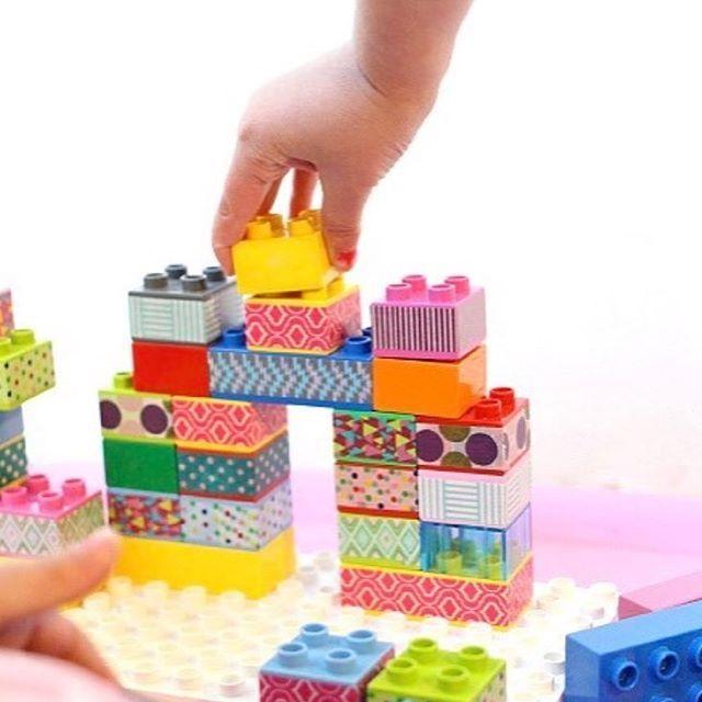 Que tal dar uma cara nova pro lego? Temos washitapes com estampas de ...