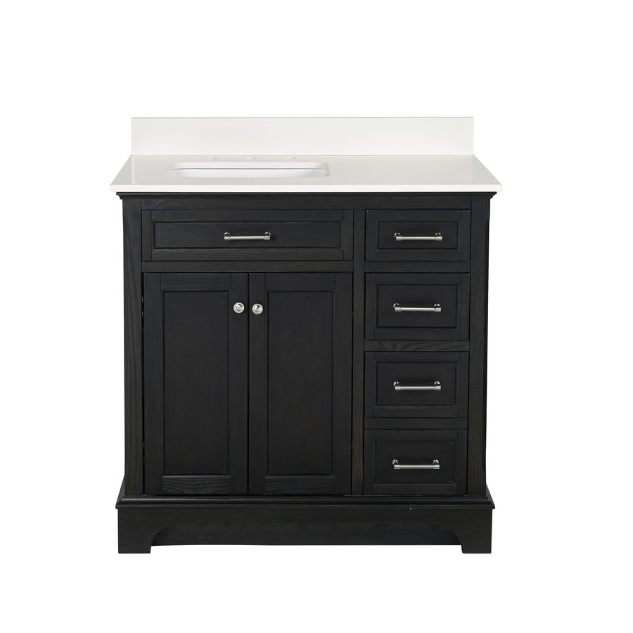 allen + roth Roveland Black Oak Undermount Single Sink ...
