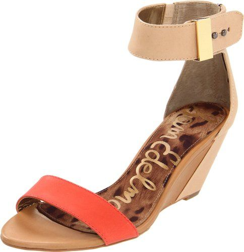 cc1fdb3aedb58 CUTE wedge in coral and nude~~Amazon.com: Sam Edelman Women's Sophie ...