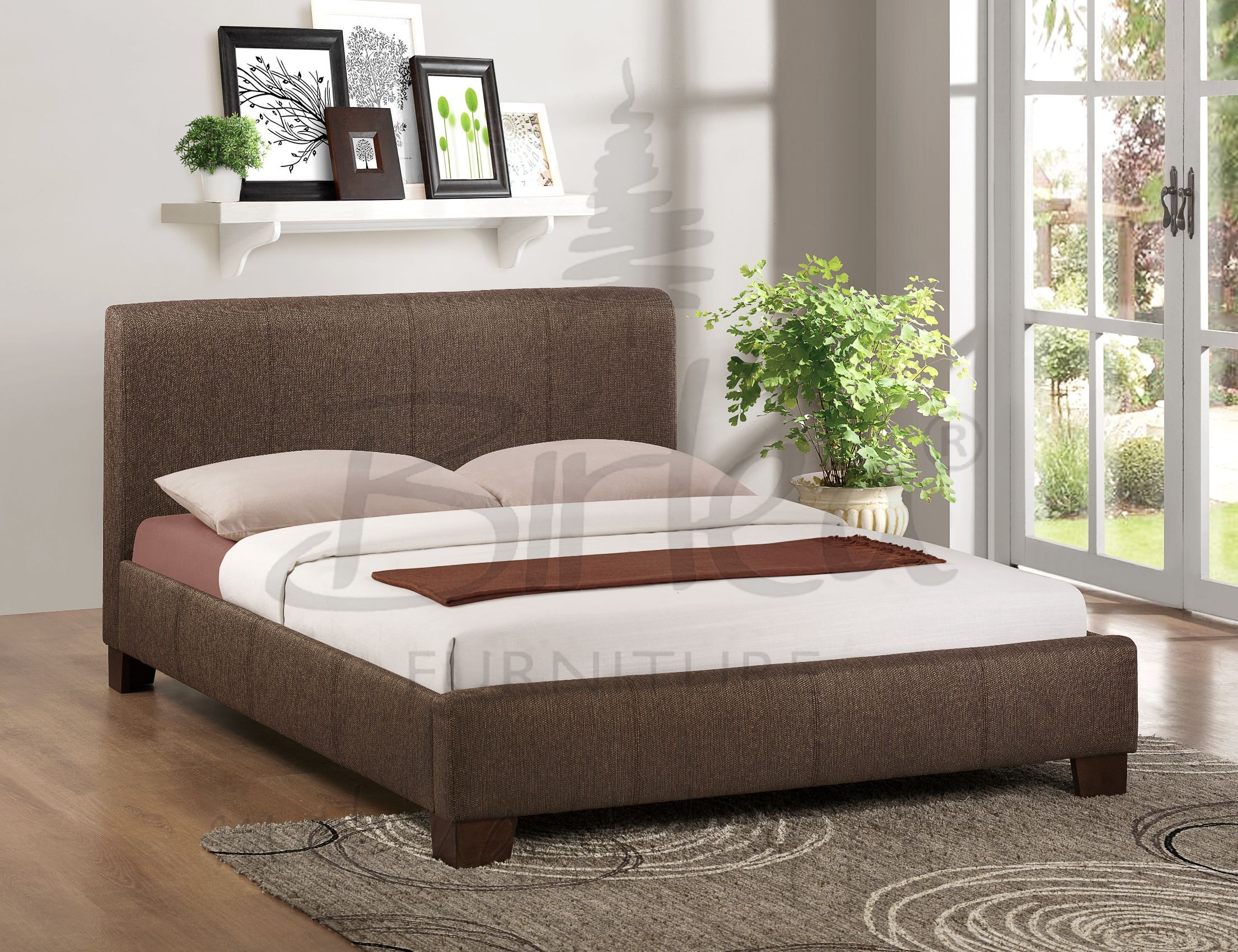 Admirable Birlea Brooklyn Fabric Bed Chocolate Available In 4 46 Theyellowbook Wood Chair Design Ideas Theyellowbookinfo