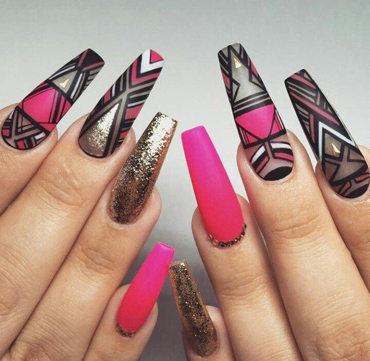 Coffin Nails, Acrylic Nails, Beautiful Nail Art, Dope Nails, Perfect Nails,  Natural Nails, Nail Salons, Nails Design, Nailed It - Pin By Corinna Cas On Nail Designs Pinterest Beautiful Nail Art