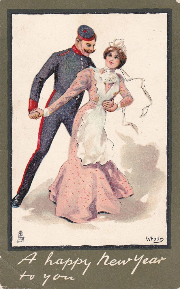 TUCK , Soldier & maid, A Happy NEW YEAR to You , Artist WHATLEY, 00-10s