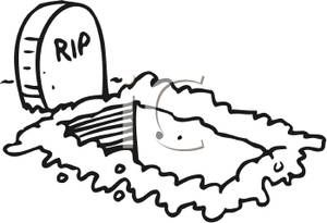 Cartoon Of An Empty Grave Next To A Tombstone That Reads Rip Royalty Free Clipart Picture Free Clip Art Royalty Free Clipart Clip Art